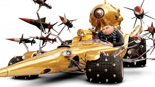 Ракеты, Миньон, машина, Грю, HD обои, 3840x2160, Гадкий я 3, мультфильм