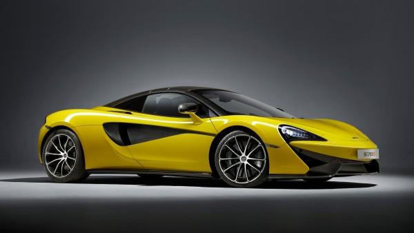 McLaren 570S Spider желтый спорткар обои 4K 3840x2160