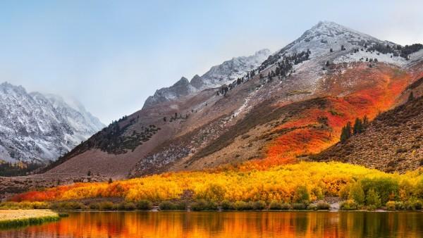 Золотая осень в горах обои HD