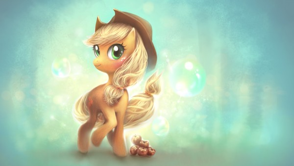 Обои 4K Мой Маленький Пони Эплджек
