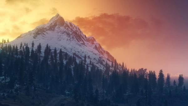 Горный пейзаж обои HD