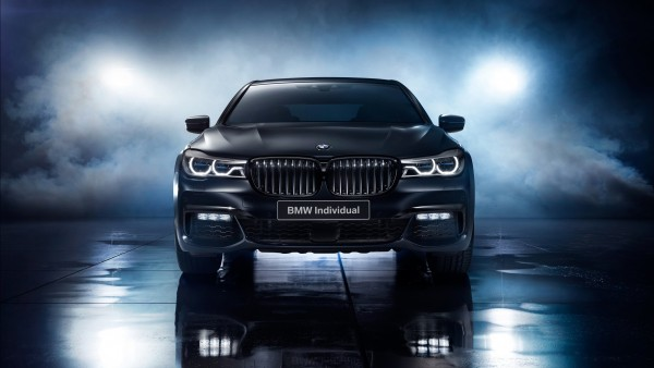 Седан BMW 7-Series Individual edition Black Ice обои HD