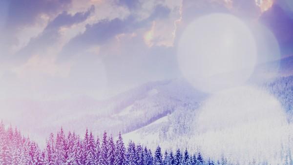 Заснеженные горы красивые обои