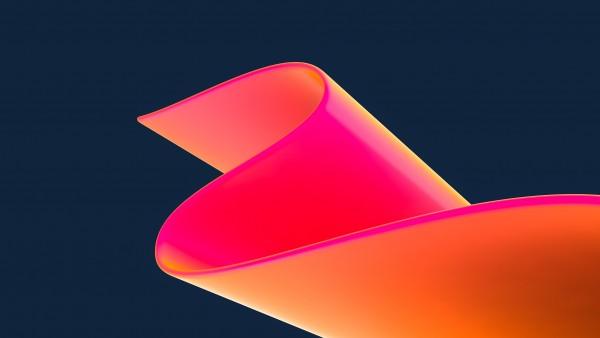3D неоновый розовый HD обои
