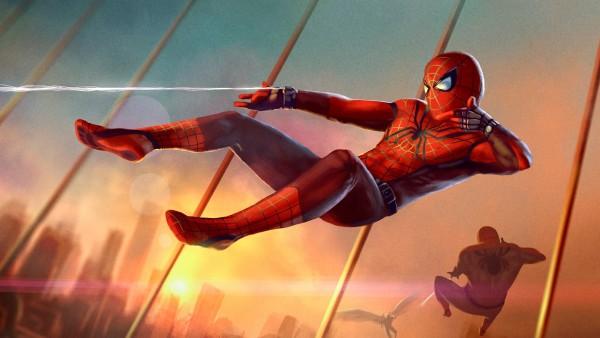 скачать обои человек паук