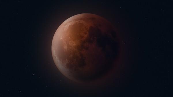 Кровавая луна обои 5K