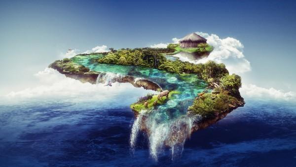 Плавающий остров обои HD