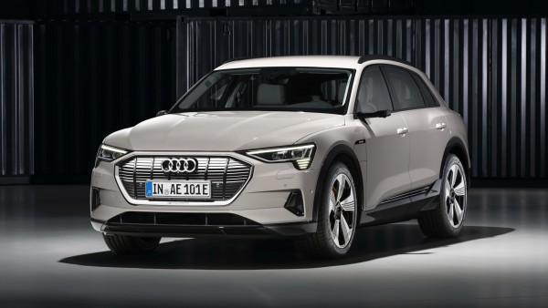 Электрический внедорожник Audi E Tron 2019 4K обои
