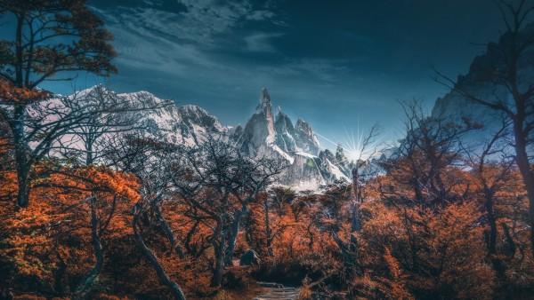 Снежные горы картинки