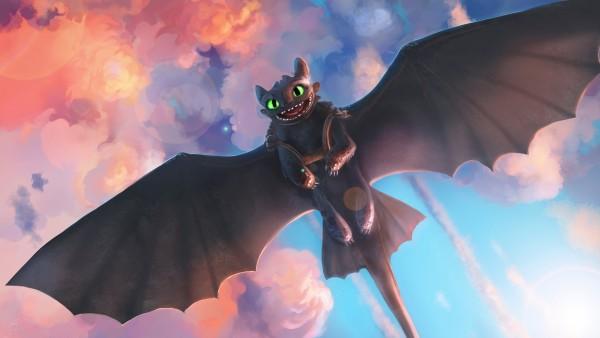 Дракон Беззубик обои 4K