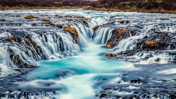 Водопад Бруарфосс обои скачать