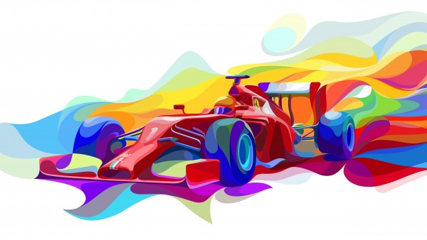 Ferrari F1 Art обои 5K 5120x2880