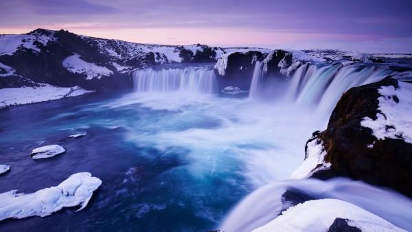 Водопад Годафосс, Исландия обои широкоформатные