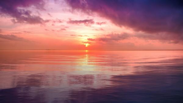 Заход солнца у моря картинки