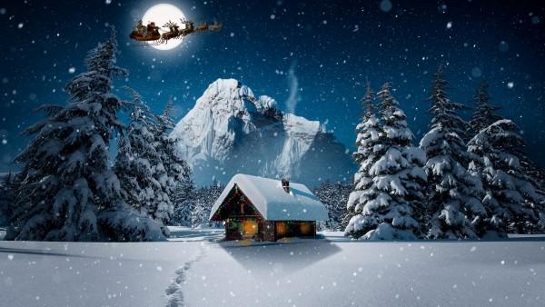 Рождественская зима обои HD