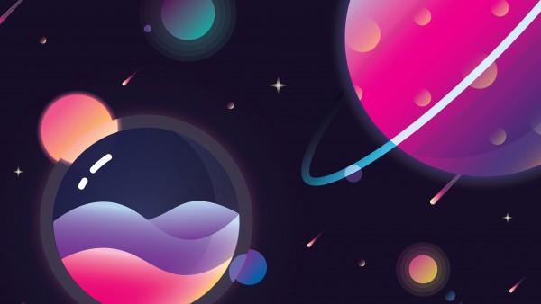 Иллюстрация планет солнечной системы обои 4K