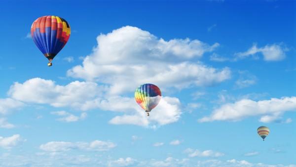 Красочные воздушные шары обои 4K
