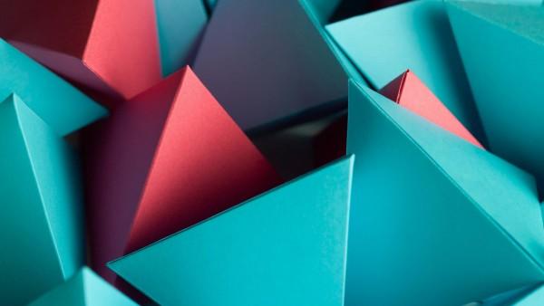 3D треугольный куб обои