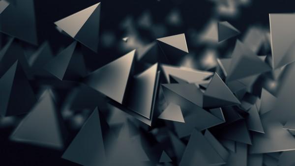 Темные треугольники обои 3D