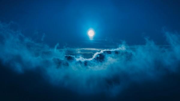 4K обои Луна ночью