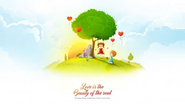 Любовь - это красота души обои