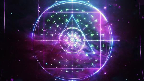 Абстрактные фигуры треугольник, круг, квадрат обои