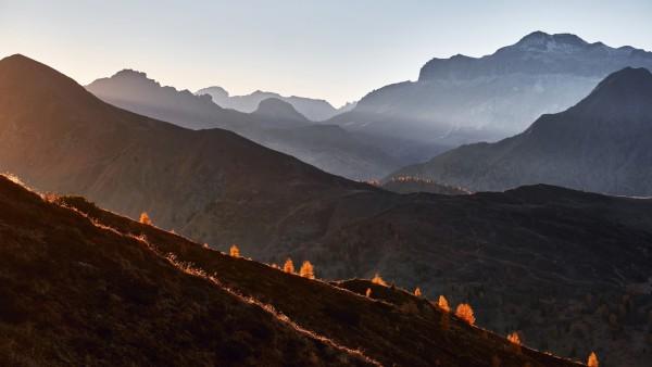 Перевал Пассо Джау в Италии обои