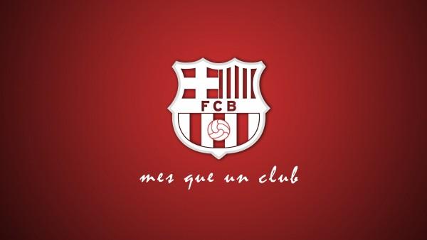 ФК Барселона логотип картинки на красном фоне