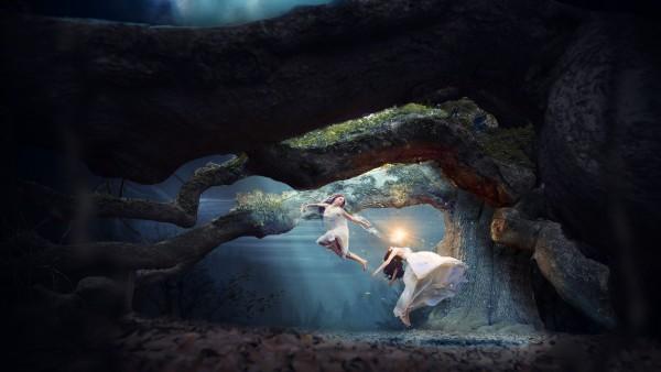 Феи, сказка, дремучий лес, принцеса, 4K обои, 3840x2160