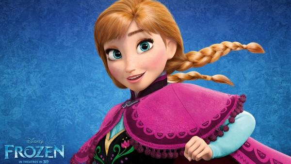 Сказочна принцесса Анна из мультфильма Холодное сердце