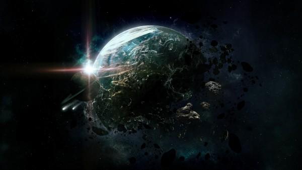 Фантастический космический пейзаж