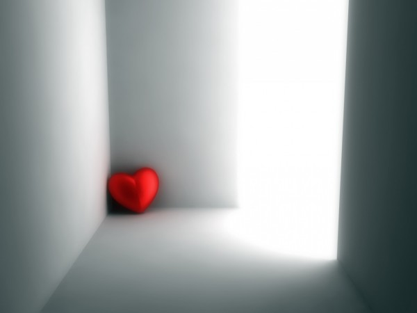 Пурпурное сердце забилось в уголке
