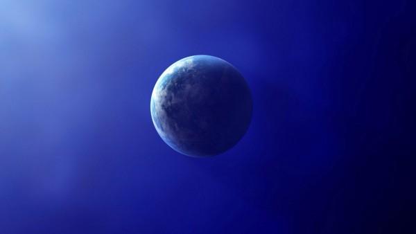 Планета Земля, голубой фон, широкоформатные обои
