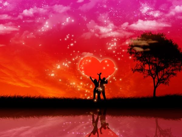 Люди держат любовь в своих руках