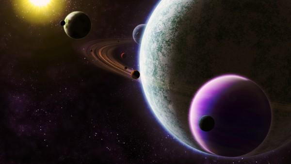 Обои космос солнце, марс, юпитер, нептун, разные планеты