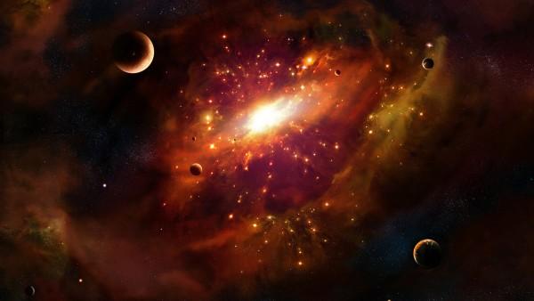 Красивая яркая галактика в космосе обои бесплатно