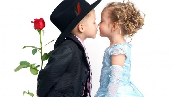 Мальчик, девушка, любовь, роза, цветы, обои, девочка