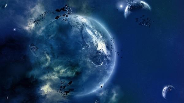 Фэнтези, 3d, абстрактные, космос, планеты, небо, звезды