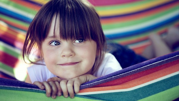 настроение, радость, улыбка, девочка, ребенок, гамак