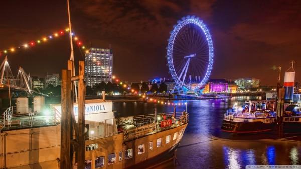 Лондон и колесо обозрения