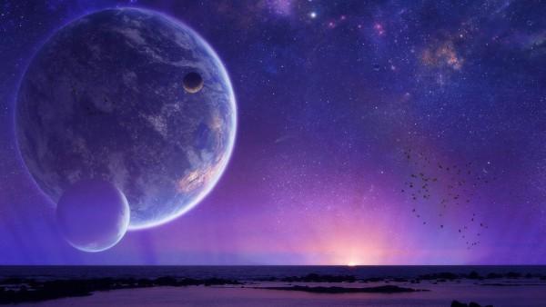 Космический пейзаж картинки hd