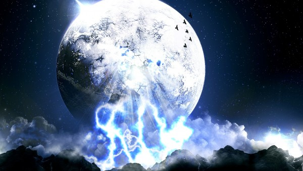 Космос, мир, луна, небо