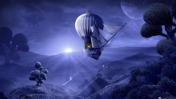 Сказочный корабль воздушный шар