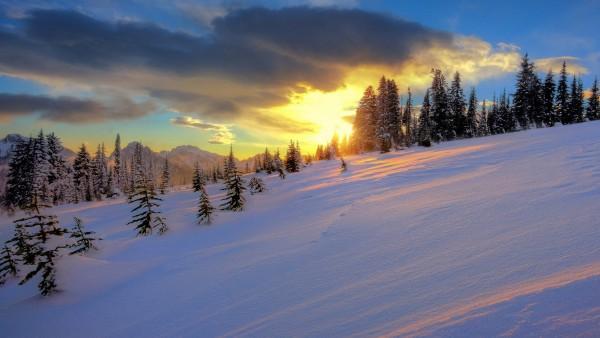 Прекрасный зимний закат