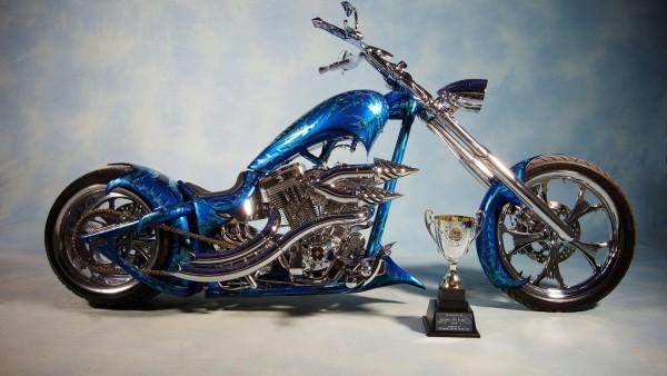 Синий мотоцикл по дизайну заказчика
