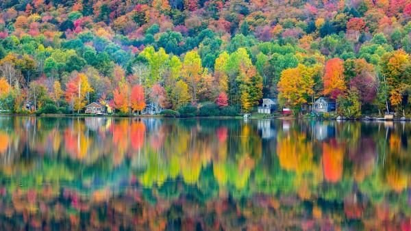 Озеро Элмора красочные отражение 1920x1200
