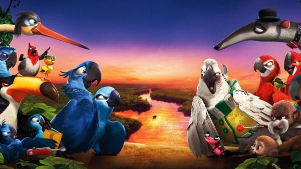 Обои из мультфильма Рио 2