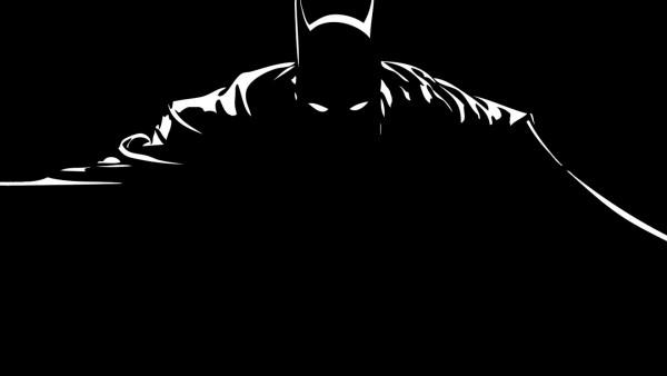 Образ Бэтмана на черном фоне