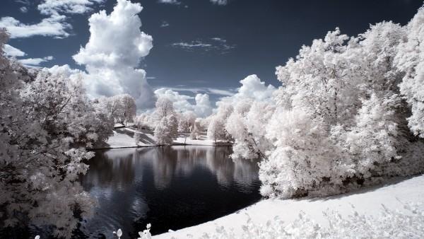 2560x1600, парк в Норвегии снежные покровы