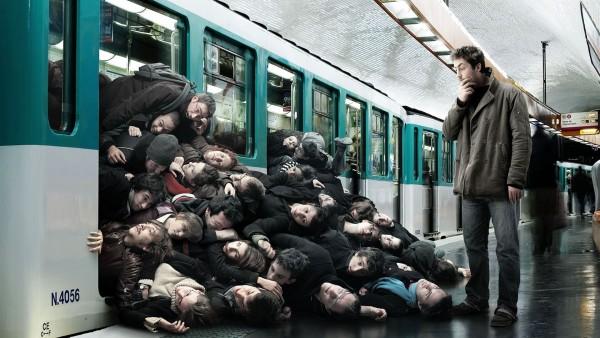Давка в метро